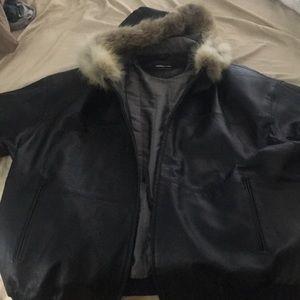 Pelle Pelle leather winter coat